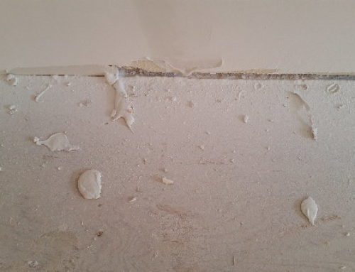The story behind drywall mud globs