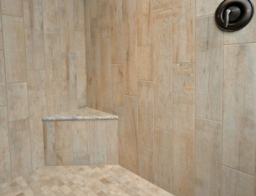 Wood-look Tile Master Shower / Bath Remodel